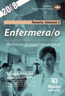 Enfermera/o. Osakidetza-Servicio Vasco de Salud. Temario. Volumen 3