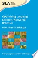 Optimizing Language Learners Nonverbal Behavior