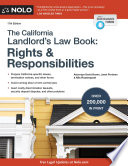 """California Landlord's Law Book, The: Rights & Responsibilities"" by David Brown, Janet Portman, Nils Rosenquest"