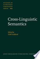 Cross-linguistic Semantics