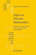Topics in Discrete Mathematics