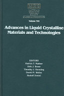 Advances in Liquid Crystalline Materials and Technologies  Volume 709