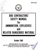 DOD Contractors' Safety Manual for Ammunition, Explosives and Related Dangerous Material