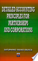 Detailed Accounting Principles For Partnership Corp 2001 PDF