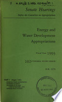 Energy and Water Development Appropriations for Fiscal Year 1993