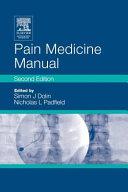Pain Medicine Manual Book