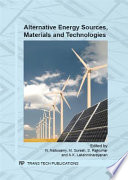 Alternative Energy Sources  Materials and Technologies