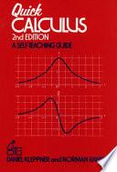 Quick Calculus Book