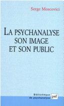 Pdf La psychanalyse, son image et son public Telecharger