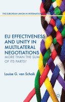 EU Effectiveness and Unity in Multilateral Negotiations Pdf/ePub eBook