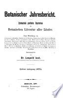 Botanischer Jahresbericht