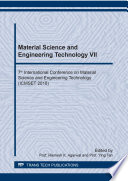 Material Science and Engineering Technology VII