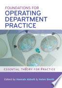 Ebook Foundations For Operating Department Practice Essential Theory For Practice