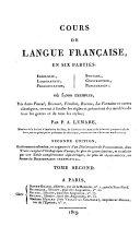 Cours pratique et théorique de langue française