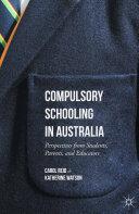 Compulsory Schooling in Australia Pdf/ePub eBook