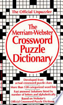 The Merriam-Webster Crossword Puzzle Dictionary