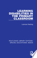 Learning Disabilities in the Primary Classroom