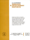 U.S. Government Research & Development Reports