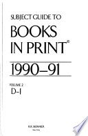 Subject Guide to Books in Print  , Bände 1-3