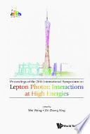 Lepton Photon Interactions At High Energies  Lepton Photon 2017    Proceedings Of The 28th International Symposium