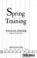 Spring Training Book PDF