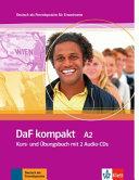 DaF Kompakt - Nivel A2 - Libro del alumno + Cuaderno de ejercicios + CD