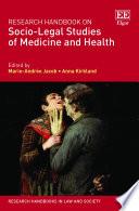 Research Handbook on Socio Legal Studies of Medicine and Health