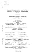 Summary Of The Transactions Of The College Of Physicians Of Philadelphia