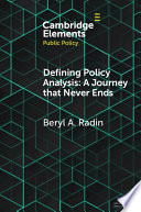 Defining Policy Analysis  A Journey that Never Ends