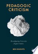 Pedagogic Criticism