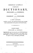 Christian Ludwig s Complete Dictionary