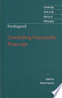 Kierkegaard  Concluding Unscientific Postscript Book PDF