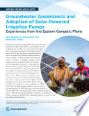 Groundwater governance and adoption of solar-powered irrigation pumps