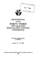 Proceedings of the New Zealand Weed and Pest Control Conference