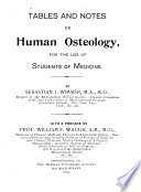 Tables and Notes on Human Osteology Book PDF