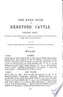 The Herd Book of Hereford Cattle Book