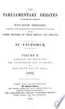 The Parliamentary Debates  Authorised Edition