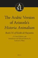 The Arabic Version of Aristotle's Historia Animalium
