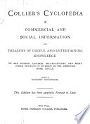Collier s Cyclopedia of Commercial and Social Information and Treasury of Useful and Entertaining Knowledge Book