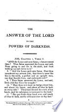The Answer of the Lord to the Powers of Darkness