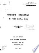 Typhoons Originating in the China Sea