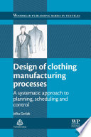Design Of Clothing Manufacturing Processes Book PDF