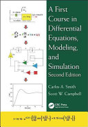A First Course in Differential Equations  Modeling  and Simulation  Second Edition