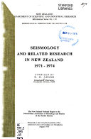 Seismology and Related Research in New Zealand 1971 1974