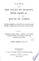 cases decided in the court of session teind court, &c. and house of lords.