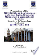 Icickm 2018 15th International Conference On Intellectual Capital Knowledge Management Organisational Learning Book PDF