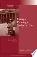 Strategic Planning in Student Affairs Book