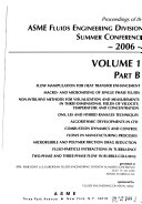 Proceedings of the     ASME Joint U S  European Fluids Engineering Conference