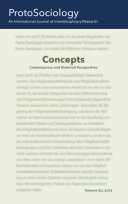 Concepts  Contemporary and Historical Perspectives