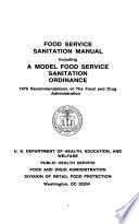Food Service Sanitation Manual